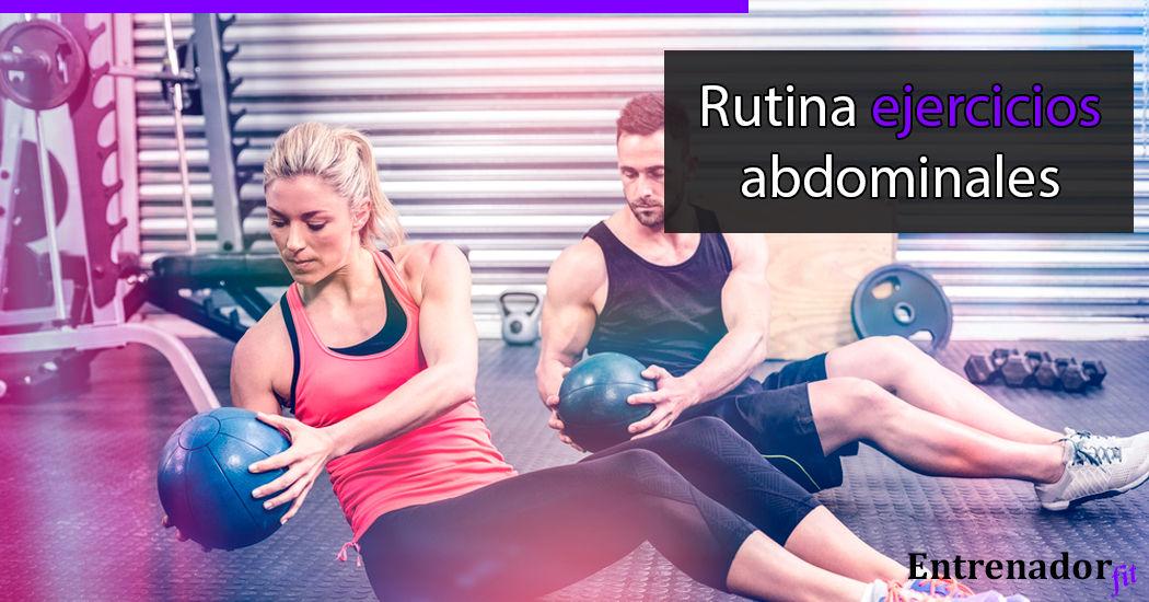 Rutina de ejercicios para tus abdominales